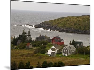 View of Homes and Rugged Coastline of Monhegan Island-Todd Gipstein-Mounted Photographic Print