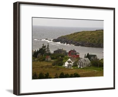 View of Homes and Rugged Coastline of Monhegan Island-Todd Gipstein-Framed Photographic Print