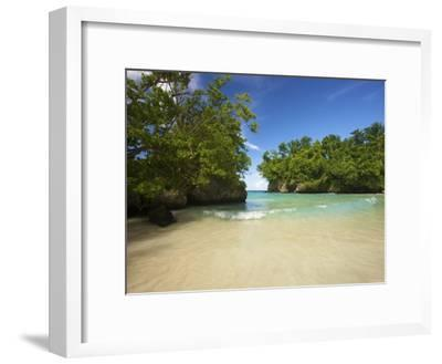 Secluded Beach at Frenchman's Cove in Jamaica-Michael Melford-Framed Photographic Print