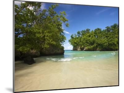 Secluded Beach at Frenchman's Cove in Jamaica-Michael Melford-Mounted Photographic Print