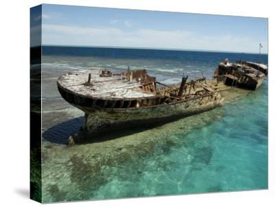 Reef Wreck of the Protector, Australia's First Naval Vessel-Tim Laman-Stretched Canvas Print