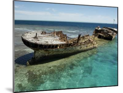 Reef Wreck of the Protector, Australia's First Naval Vessel-Tim Laman-Mounted Photographic Print