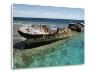 Reef Wreck of the Protector, Australia's First Naval Vessel-Tim Laman-Metal Print