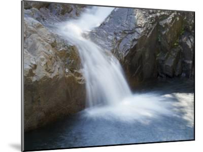 Small Waterfall Cascading over Rough Rocks-Tim Laman-Mounted Photographic Print