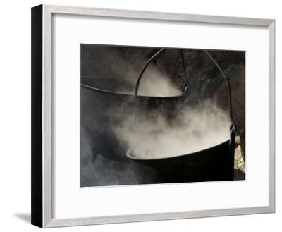 Traditional Maple Sugar Making-Tim Laman-Framed Photographic Print