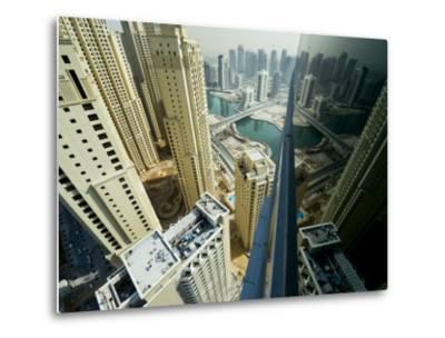 Cityscape of High Rises and Waterways in Downtown Dubai-Mattias Klum-Metal Print