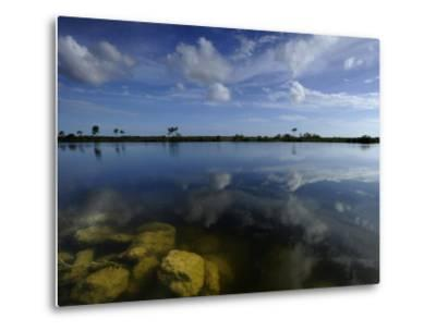 Cloud Reflections in Still Water in Everglades National Park-Raul Touzon-Metal Print