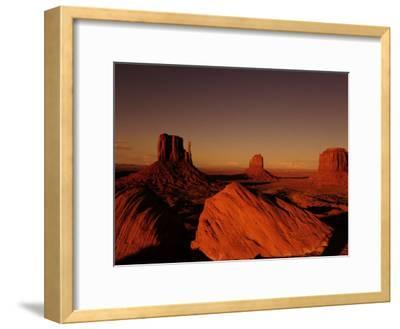 Buttes in Monument Valley at Sunset-Raul Touzon-Framed Photographic Print