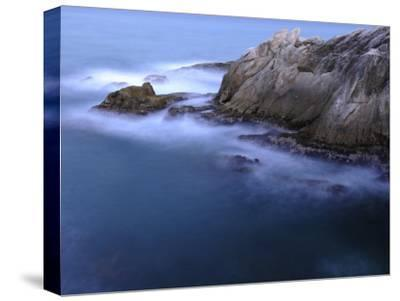 Rough Sea Hitting Cliffs on the East Coast of Puerto Rico-Raul Touzon-Stretched Canvas Print