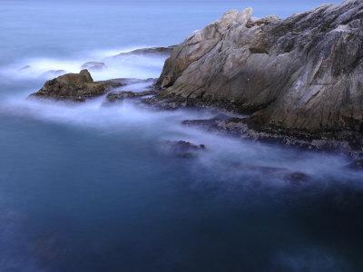 Rough Sea Hitting Cliffs on the East Coast of Puerto Rico-Raul Touzon-Premium Photographic Print