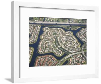 Aerial View of Housing Developments and Communities in Miami, Florida-Mike Theiss-Framed Photographic Print