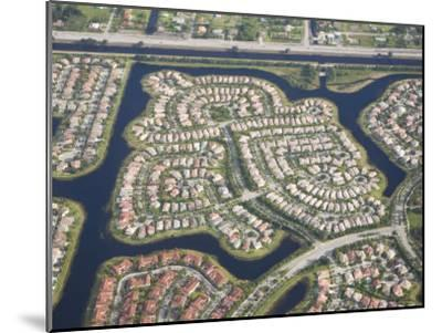 Aerial View of Housing Developments and Communities in Miami, Florida-Mike Theiss-Mounted Photographic Print
