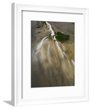 Small Islands in the Tidal Flats of the Coast Line-Michael Polzia-Framed Photographic Print