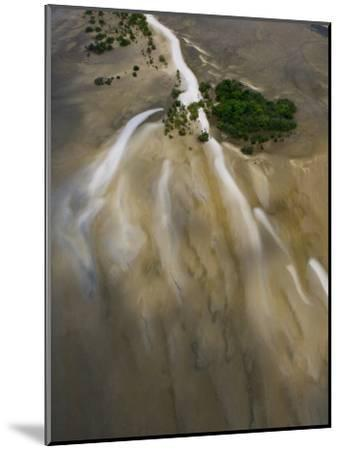 Small Islands in the Tidal Flats of the Coast Line-Michael Polzia-Mounted Photographic Print
