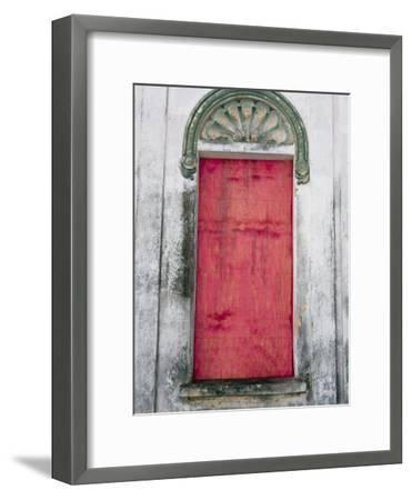 Door in a Building in a Small Town West of Sao Paulo, Brazil-Scott Warren-Framed Photographic Print