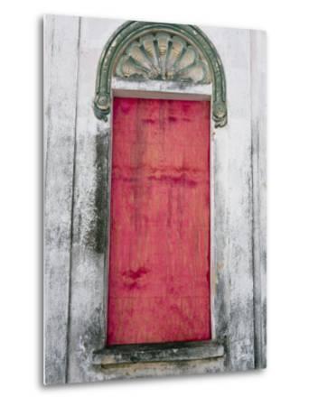 Door in a Building in a Small Town West of Sao Paulo, Brazil-Scott Warren-Metal Print