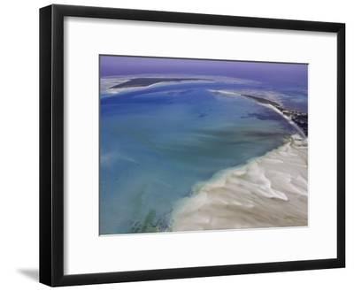 Aerial View of Water Channels on a Tidal Beach-Michael Polzia-Framed Photographic Print