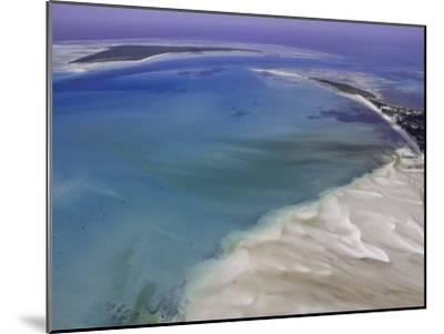 Aerial View of Water Channels on a Tidal Beach-Michael Polzia-Mounted Photographic Print