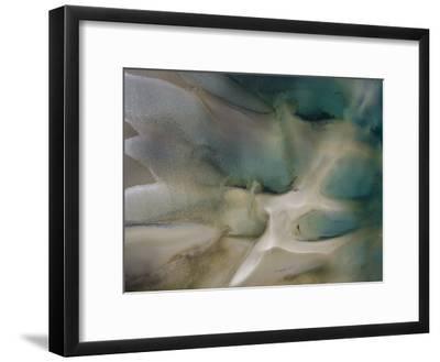 Tidal Beach Patterns-Michael Polzia-Framed Photographic Print