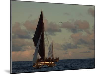 Hokule'A, a Double Hulled Canoe and a Polynesian Voyaging Canoe-Stephen Alvarez-Mounted Photographic Print