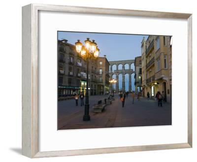 1st Century A.D. Roman Aqueduct in Segovia-Scott Warren-Framed Photographic Print