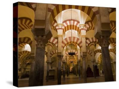 Interior View of the Mezquita, an 8th Century Mosque-Scott Warren-Stretched Canvas Print