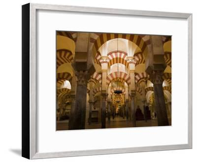 Interior View of the Mezquita, an 8th Century Mosque-Scott Warren-Framed Photographic Print