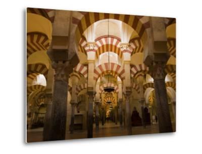Interior View of the Mezquita, an 8th Century Mosque-Scott Warren-Metal Print