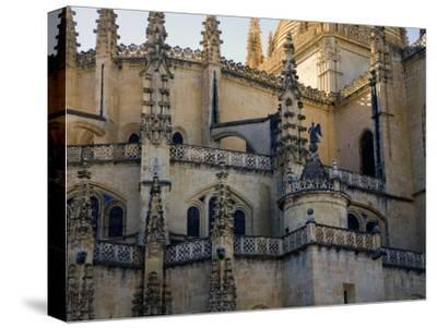 Gothic Detail on Segovia's Cathedral-Scott Warren-Stretched Canvas Print
