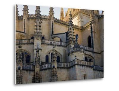 Gothic Detail on Segovia's Cathedral-Scott Warren-Metal Print