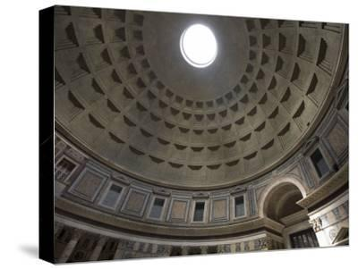 Light Shines Down from the Oculus in the Dome of the Pantheon-Scott Warren-Stretched Canvas Print