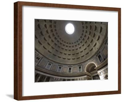 Light Shines Down from the Oculus in the Dome of the Pantheon-Scott Warren-Framed Photographic Print