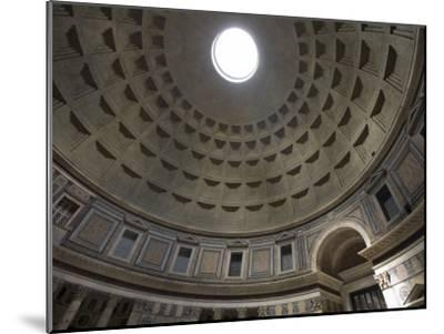 Light Shines Down from the Oculus in the Dome of the Pantheon-Scott Warren-Mounted Photographic Print