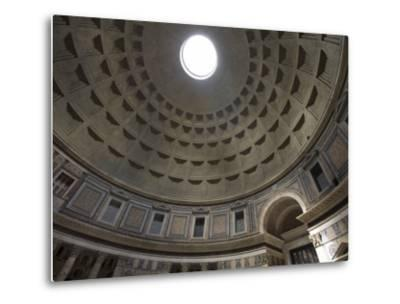 Light Shines Down from the Oculus in the Dome of the Pantheon-Scott Warren-Metal Print