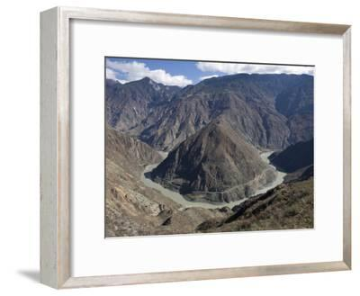 Tight Meanders in the Yangtze River Northwest of Shangri-La, Yunnan-Scott Warren-Framed Photographic Print