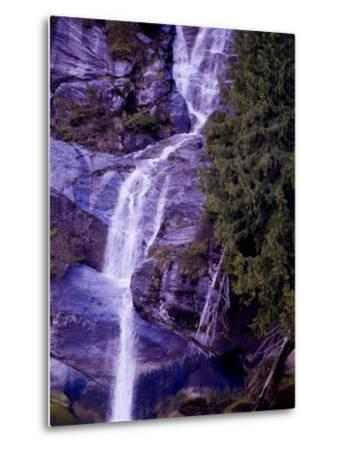 Waterfall in a Rain Forest-Pete Ryan-Metal Print