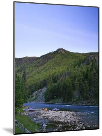 Camping on the Middle Fork of the Salmon River, Idaho-Drew Rush-Mounted Photographic Print