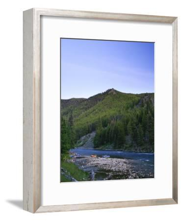 Camping on the Middle Fork of the Salmon River, Idaho-Drew Rush-Framed Photographic Print