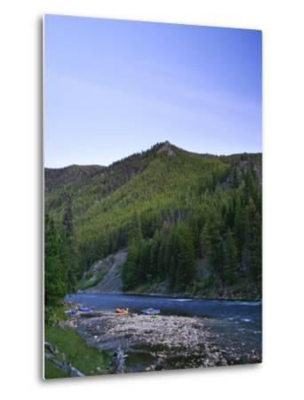 Camping on the Middle Fork of the Salmon River, Idaho-Drew Rush-Metal Print