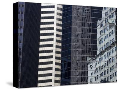 Reflections in Building Windows-Skip Brown-Stretched Canvas Print