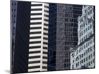 Reflections in Building Windows-Skip Brown-Mounted Photographic Print