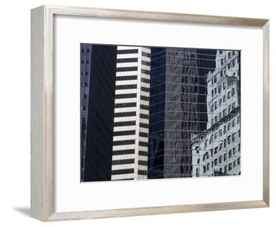 Reflections in Building Windows-Skip Brown-Framed Photographic Print