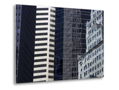 Reflections in Building Windows-Skip Brown-Metal Print