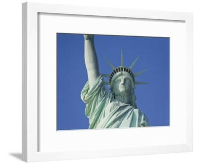 Statue of Liberty Against a Clear Blue Sky-Mike Theiss-Framed Photographic Print