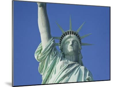 Statue of Liberty Against a Clear Blue Sky-Mike Theiss-Mounted Photographic Print