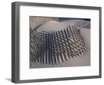 Sand Fence on the Beach in Destin, Florida-Marc Moritsch-Framed Photographic Print