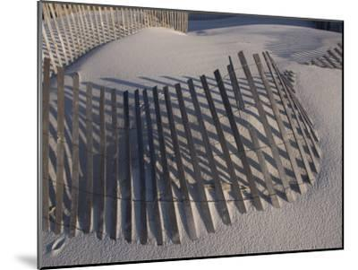 Sand Fence on the Beach in Destin, Florida-Marc Moritsch-Mounted Photographic Print