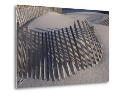 Sand Fence on the Beach in Destin, Florida-Marc Moritsch-Metal Print