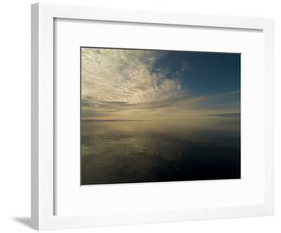 Serene View of Still Water under the Arctic Sky-Norbert Rosing-Framed Photographic Print