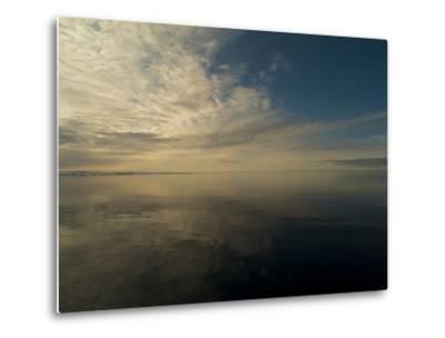 Serene View of Still Water under the Arctic Sky-Norbert Rosing-Metal Print